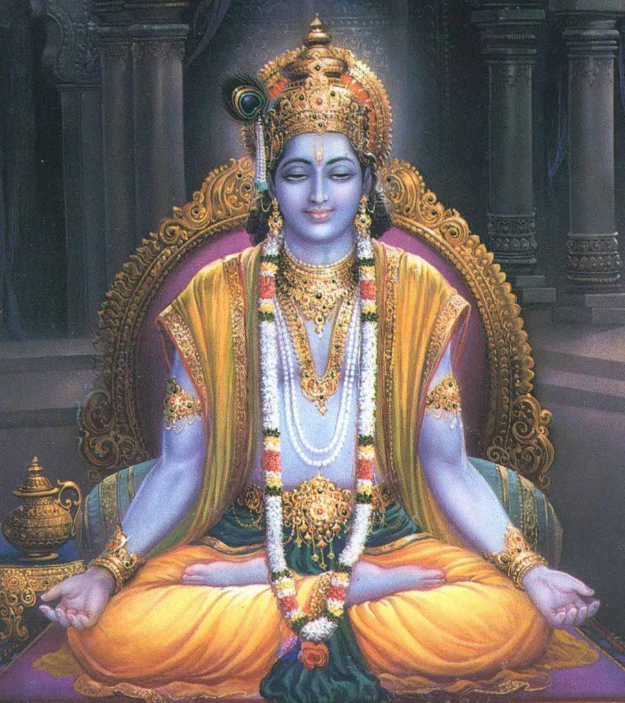 Чтение мантры ом - Кришна