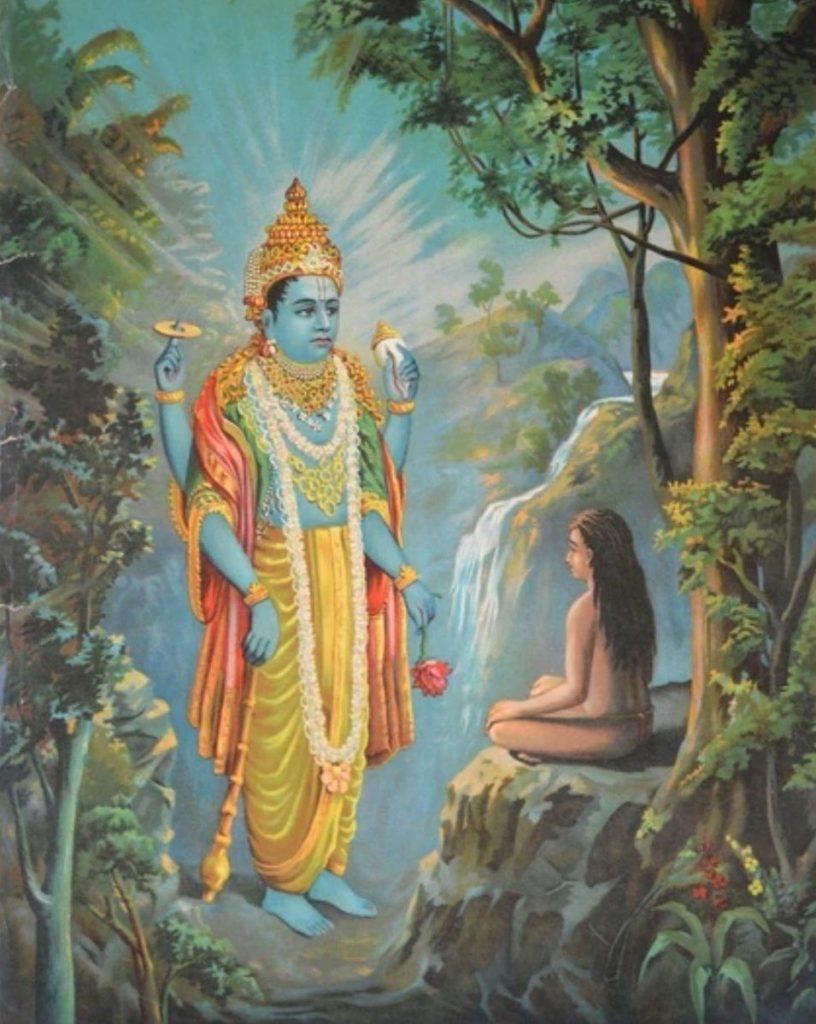 Век Дхрувы - Явление Вишну практикующему аскезу Дхруве