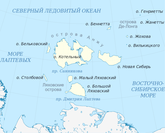 Рисунок 8.4. Новосибирские острова